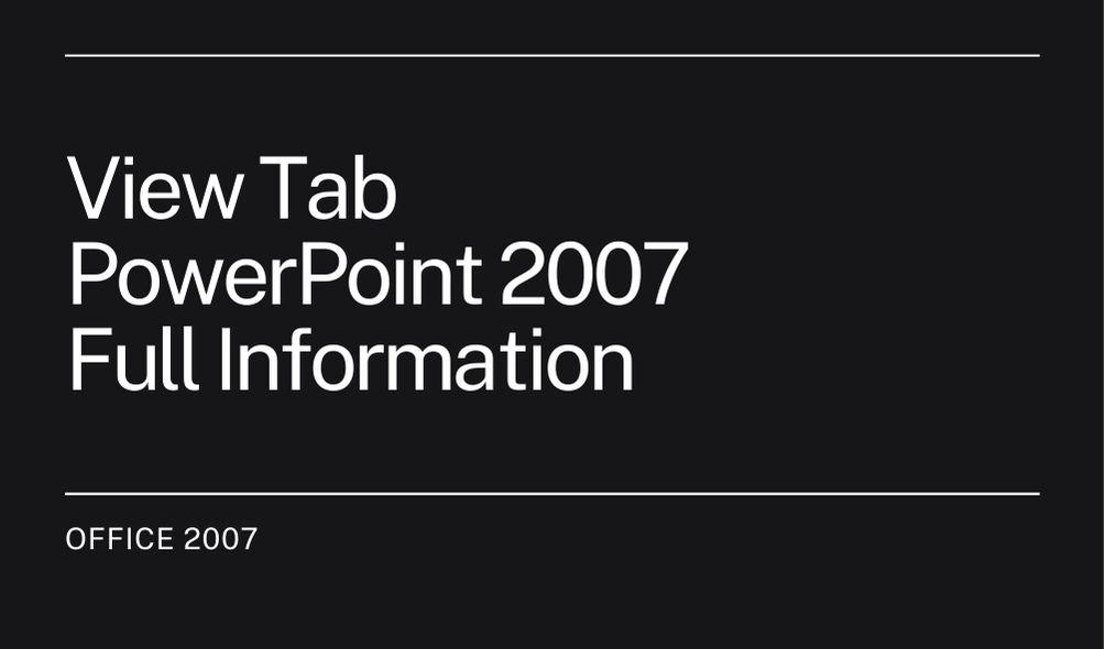 View Tab PowerPoint